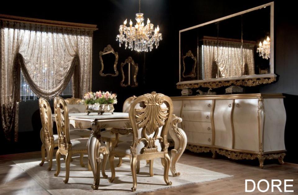 Dore klasik yemek odas outlet mobilya modelleri for Mobilya turkey